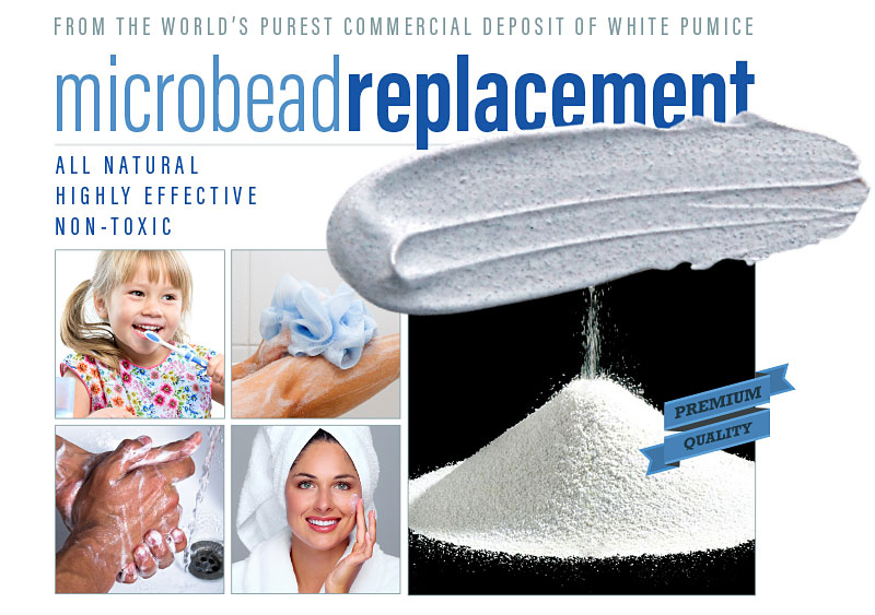 pumice is the all natural, highly effective, non-toxic microbead replacement